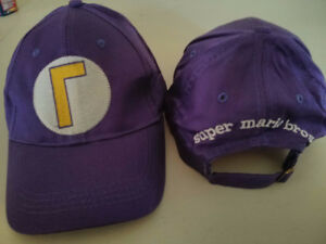 Super Mario Bros Waluigi adjustable hat $10