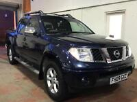 2009 09 NISSAN NAVARA 2.5 DCI TEKNA 4X4 DOUBLE CAB ( NO VAT ) FINISHED IN DARK M