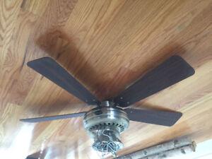 A very quiet ceiling fan