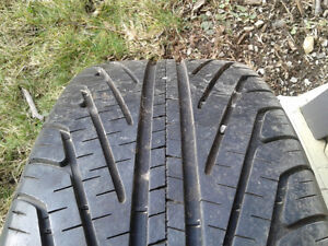 Set of 4 - 215/60/15 Tires on 5 x 115 Great steelies