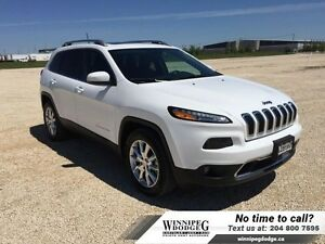 2016 Jeep Cherokee Limited V6 4x4 w/Panoramic Sunroof