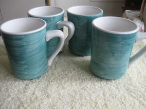 "ATTRACTIVE SET of MATCHING ""DUDSON"" DURALINE COFFEE / TEA MUGS"