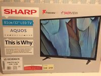 "32"" SHARP AQUOS LED HD FREEVIEW HD BRAND NEW"