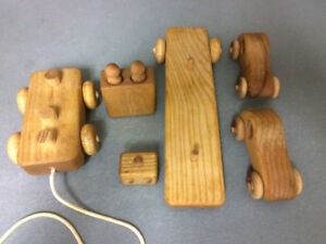 Handcrafted Wooden truck with Cars