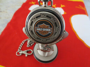 Harley Davidson Heritage Softail Pocket Watch With Stand - Rare