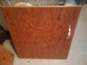 15 solid wood kitchen cabinet doors and 2 wooden drawer fronts
