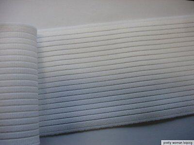 Gummiband Bandage Stützgürtel Meterware weiß 25cm breit MC14