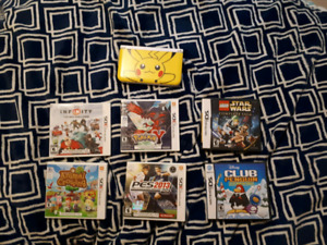 3ds XL +6 games + charger