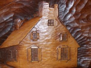 Représentation maison de campagne. / Country house 3D hand made.