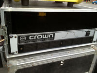 Road case 4 spaces for power amp/ other cases available