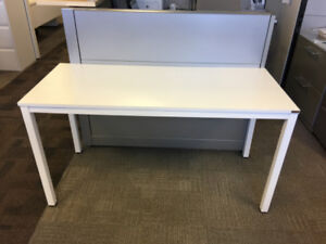 NEED Office / Computer Table in White with Steel Legs