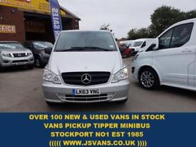 2013 63 MERCEDES-BENZ VITO 116 CDI BLUEEFFICIENCY AUTO 163 BHP L.W.B + SAT NAV