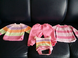 12 months Girls Children's Place Sweaters, Hat and Pants Lot