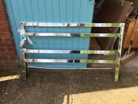 FREE chrome bed frame complete with slats and fixings
