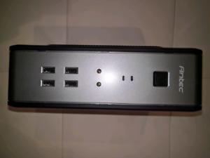 Silent HTPC Intel Pentium 750GB 64GB SSD HDMI USB3 Asus Antec