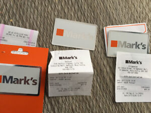 135$ Marks Work Warehouse gift cards for $100