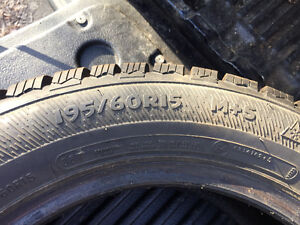 Slightly used Hercules Avalanche winter tires 195/60R15