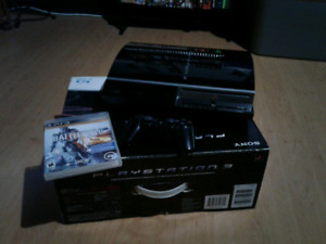 PS3 in box.. with game & controller