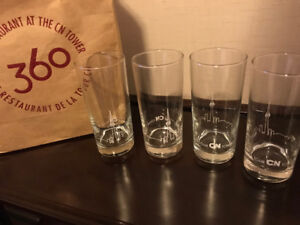 4PC CN TOWER GLASSES