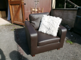 Great leather effect armchair