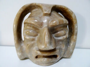 BEAUTIFULLY UGLY south american STONE SPIRIT SCULPTURE ART 6lbs.