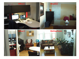 2 Clean Full Furnished Offices + Waiting Room