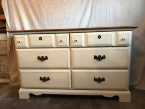 Solid Wood 6 Drawer Dresser