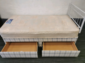 Single storage bed & mattress Delivery Available