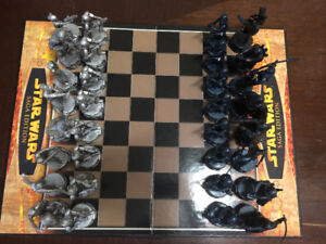 Star Wars Saga Edition Chess Set Parker Brothers 2004 Complete