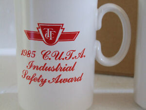 BRAND NEW SET OF 2 VINTAGE TTC 1985 INDUSTRIAL SAFETY COFFEE MUG London Ontario image 5