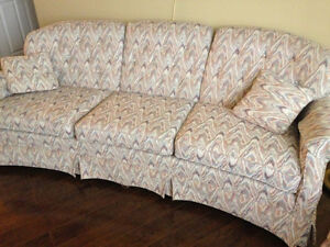 custom upolstered couch and chair