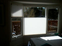 2 NEW Bay Windows with blinds