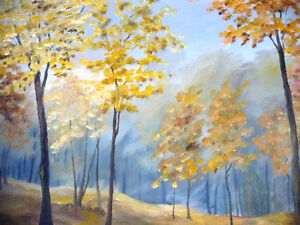 "Original Landscape Painting by H. Brown ""Enchanted Woods"" 1940's Stratford Kitchener Area image 3"