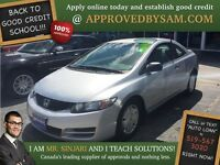 "Alabaster Silver Civic - TEXT ""AUTO LOAN"" TO 519 567 3020"