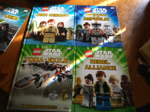 Lot of 10 hard cover lego star wars books