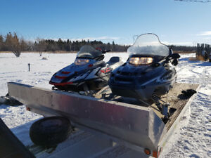 Selling my 2 Polaris Sleds & Trailer