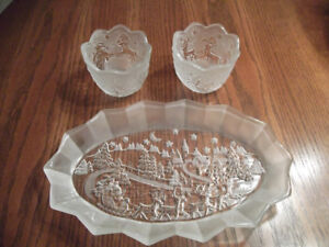 Waltherglas Christmas Plate and Candle Holders
