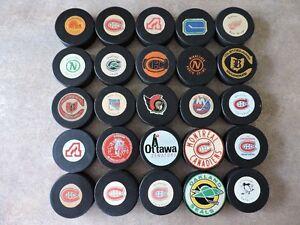 WANTED.....Pucks - NHL, OHA, OHL, WHA, WHL.....