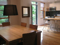 FURNISHED 3 BDRS ON the plateau mt-royal    July 1st.
