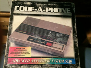 Telephone Answering Machine Code A Phone Model 5530 Land Line