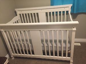 Child's crib and mattress