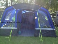 Hi gear voyager 6 tent, with porch, foot print and carpet. In immaculate condition