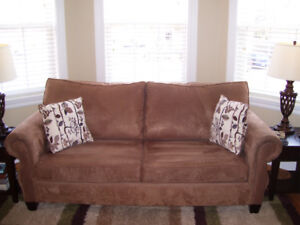 Condo size sofa and chair