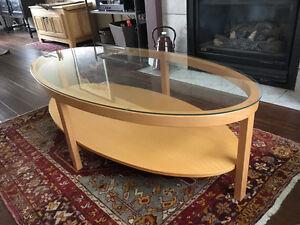 IKEA beechwood coffee table