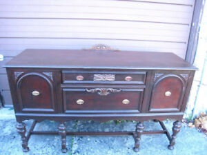 ANTIQUE JACOBEAN Solid Wood Buffet/Sideboard,delivery $$, read