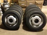 225/70/19.5 Continental HSR tires on Ford F550 rims
