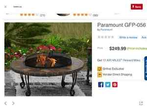 FIRE PIT Table - Paramount wood, charcoal or gel fuel