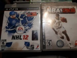 NBA 2K8 & NHL 12 for PS3