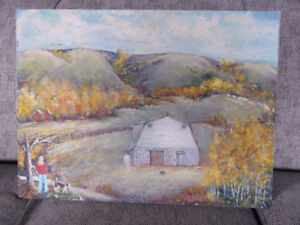 "An Original SIGNED OIL PAINTING- titled ""Fall in the Valley"""