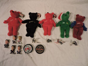 Hockey collectibles and Mark Mcgwire bear
